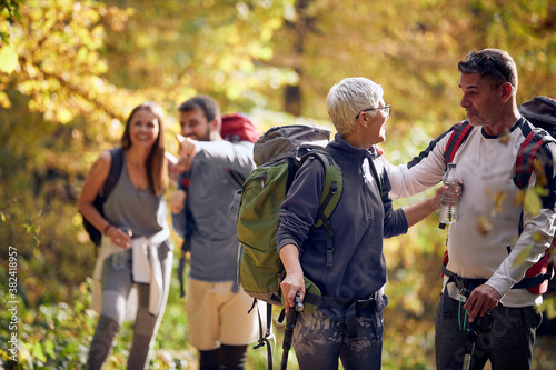 Obraz Family hiking; Quality family time concept - fototapety do salonu