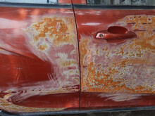 Damaged Car, Scratches On The ...