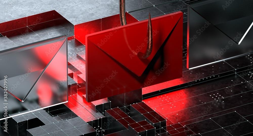 Fototapeta Phishing Email Scam