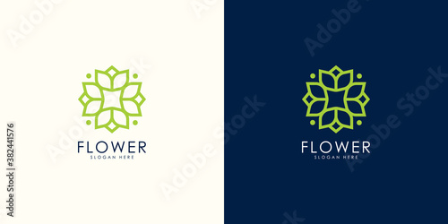 Fototapeta nature flower logo premium vector obraz
