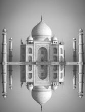 Black And White Photo. Taj Maha