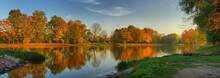 Panorama Of The River Bank And...