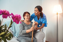 Caregiver, Carer Hand Holding ...