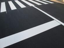 横断歩道の塗装
