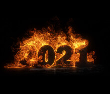 Year 2021 On Fire. Burning 202...