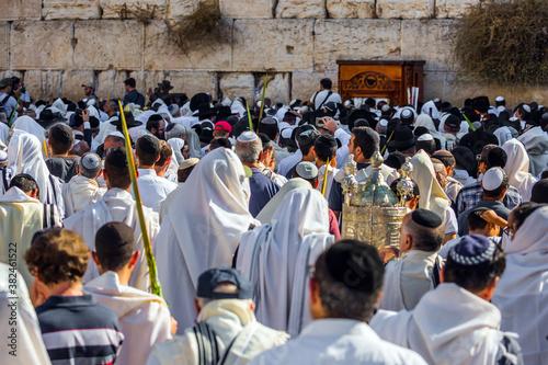 Obraz na plátně The blessing of the Cohanim. Jerusalem