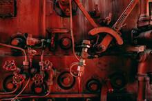 Old Steam Locomotive Cabine Inside