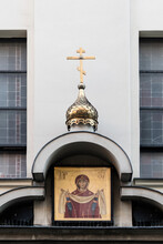 Entrance To The Russian-orthodox Church In Krakow, Poland