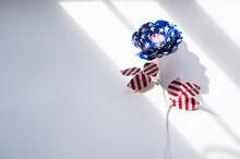 Paper Flower Made From American Flag