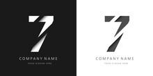 Seven Number Modern Logo Broken Design