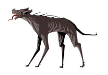 Chupacabras Vampire Monster Dog With Meat