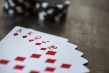 Cards: Royal Flush In Diamond Suit