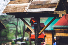Handmade Colorful Wood Birdhouse