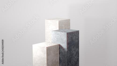 Fotografija Minimal podium for Cosmetic background product stand presentation 3d rendering