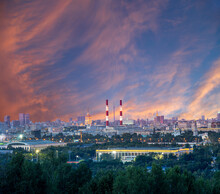 View Of Central Moscow From Sp...