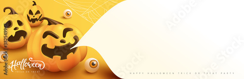 Fotografie, Obraz Halloween banner or party invitation background