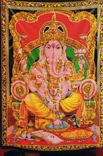 Textile Fabric With The Image Of God Ganesha