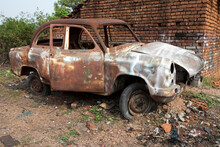 An Old Unused Wretched Car