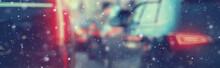 Blurred Transport Background S...