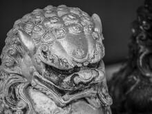 A Garden Statue, Lion Head Sta...