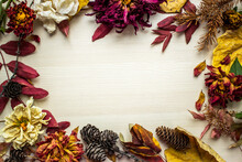 Autumn Floral Flatlay. Wilted ...
