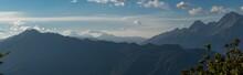 Panorama Of The Mountain Range...