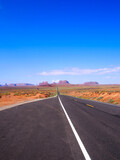 good view at Road Route 66 Monument Valley in Arizona, USA
