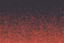 Abstract Background Pattern Made With Halftone Circles / Dots. Modern, Simple Vector Art In Orange Color.