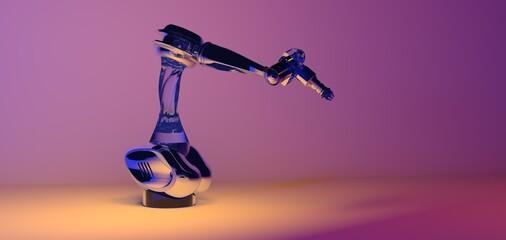 robot arm industrie robot automation ai future digital 3d