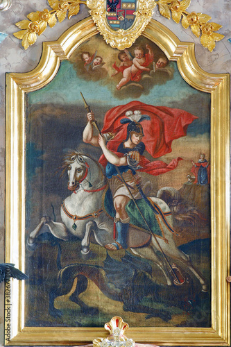 Papel de parede Saint George altarpiece on the high altar in the parish church of Saint George i