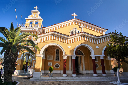 Fototapeta the orthodox church in the town of Argostoli on the island of Kefalonia