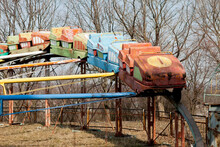 Abandoned Amusement Park On A Sunny Day