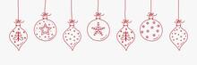 Christmas Ball - Hanging Ornaments. Vector