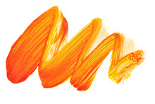 Vivid Orange Zigzag Brush Stroke