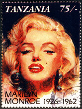 Marilyn Monroe Portrait On Postage Stamp Of Tanzania