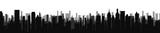 Fototapeta Nowy Jork - Black city silhouette skyline - stock vector