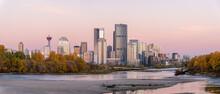 Calgary's Skyline Along The Bo...