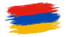 Vector Vintage Armenia Flag