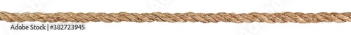 Long dirty rope cord stretched straight and taut Fotobehang