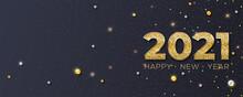 Happy New Year 2021. Glitterin...