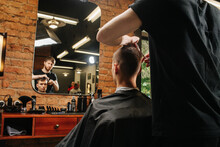 Image Of Hairdresser Making A ...