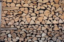 Woodpile For Fireplace, Backgr...