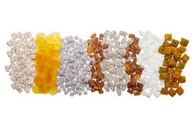 Iranian Sweets And Candies On White Background