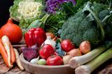 warzywa, papryka, pomidor, brokuł, por, dynia, pomidor