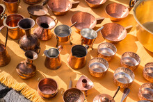 Copper Pots At The Gypsy Fair