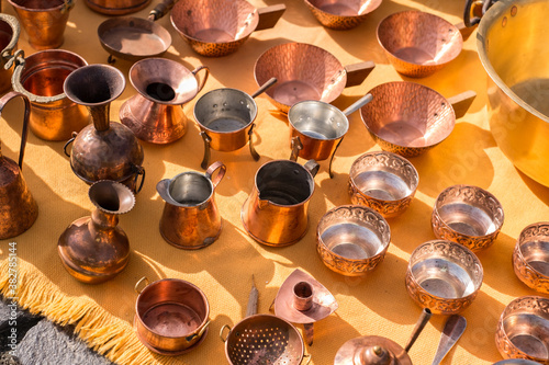 Fototapeta copper pots at the gypsy fair