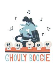 Halloween Illustration Vampire Jazz Vintage Retro Cartoon
