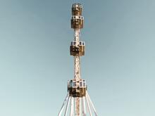 Ferris Wheel In Amusement Park In Barcelona