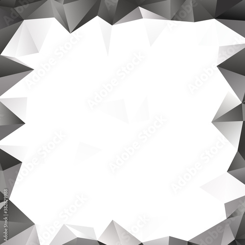 Low poly triangular, triangles vector background Fototapet