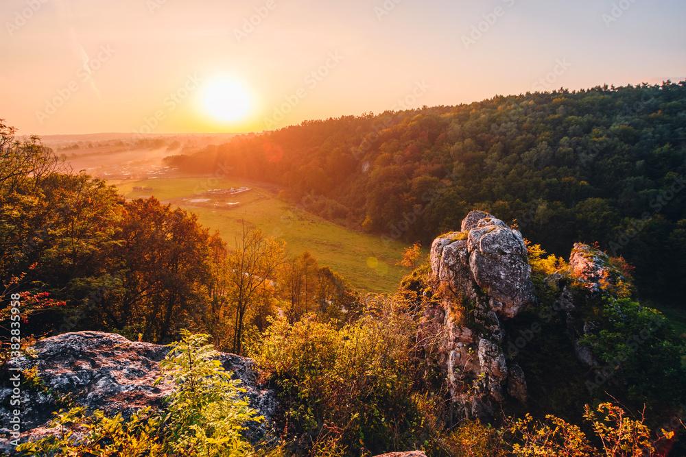 Fototapeta skała kmity , wschód słońca, zabierzów